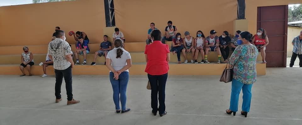 GAD PARROQUIAL PIEDRAS REALIZA LA ENTREGA DE SEGUNDA ETAPA DEL COLISEO DE DEPORTES